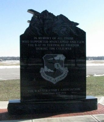 B-47 Stratojet Memorial (Side A) image. Click for full size.