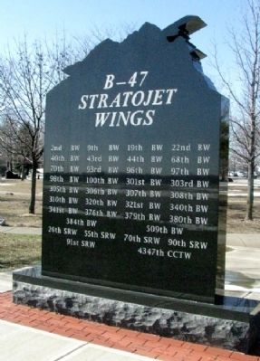 B-47 Stratojet Memorial (Side B) image. Click for full size.