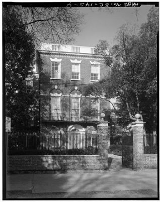 Nathaniel Russell House, Historic American Engineering Record, HABS SC,10-CHAR,2--4 image. Click for full size.