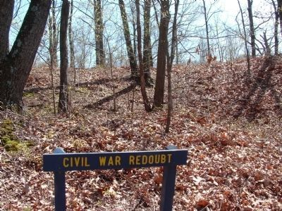 Civil War Redoubt. image. Click for full size.