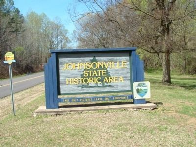 Johnsonville State Historic Area sign image. Click for full size.