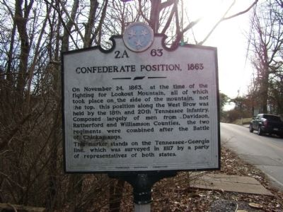 Confederate Position, 1863 Marker image. Click for full size.