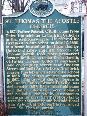 St. Thomas the Apostle Church Marker image. Click for full size.