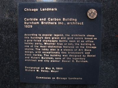 Carbide and Carbon Building Marker image. Click for full size.