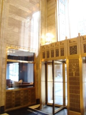 Carbide and Carbon Building Lobby Entrance image. Click for full size.