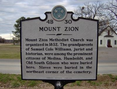 Mount Zion Marker image. Click for full size.