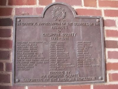 Patriots of Calhoun County Marker image. Click for full size.