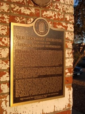 The Buckhorn Exchange Marker image. Click for full size.