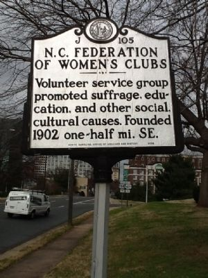 N.C. Federation of Women's Clubs Marker image. Click for full size.