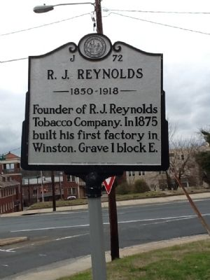 R. J. Reynolds Marker image. Click for full size.