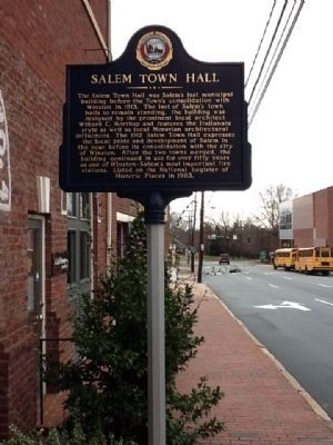 Salem Town Hall Marker image. Click for full size.