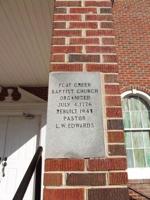 Flat Creek Baptist Church Cornerstone image. Click for full size.