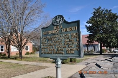 Iuka Methodist Church Marker image. Click for full size.