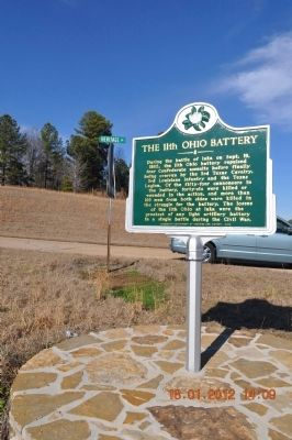 The 11th Ohio Battery Marker image. Click for full size.