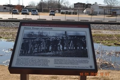Union Troops at Corinth Marker image. Click for full size.