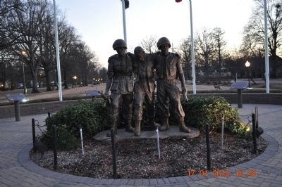 Town of Tunica Veterans Memorial Marker image. Click for full size.