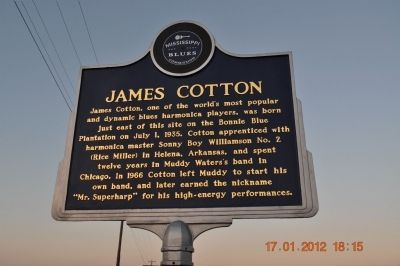 James Cotton Marker image. Click for full size.