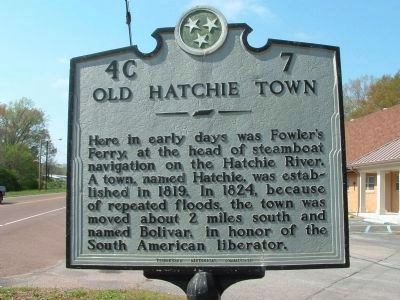 Old Hatchie Town Marker image. Click for full size.