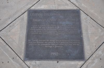 Lloyd T. Lowrey Plaza Marker image. Click for full size.