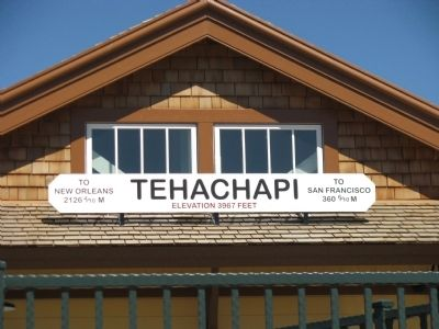 Tehachapi Railroad Station image. Click for full size.