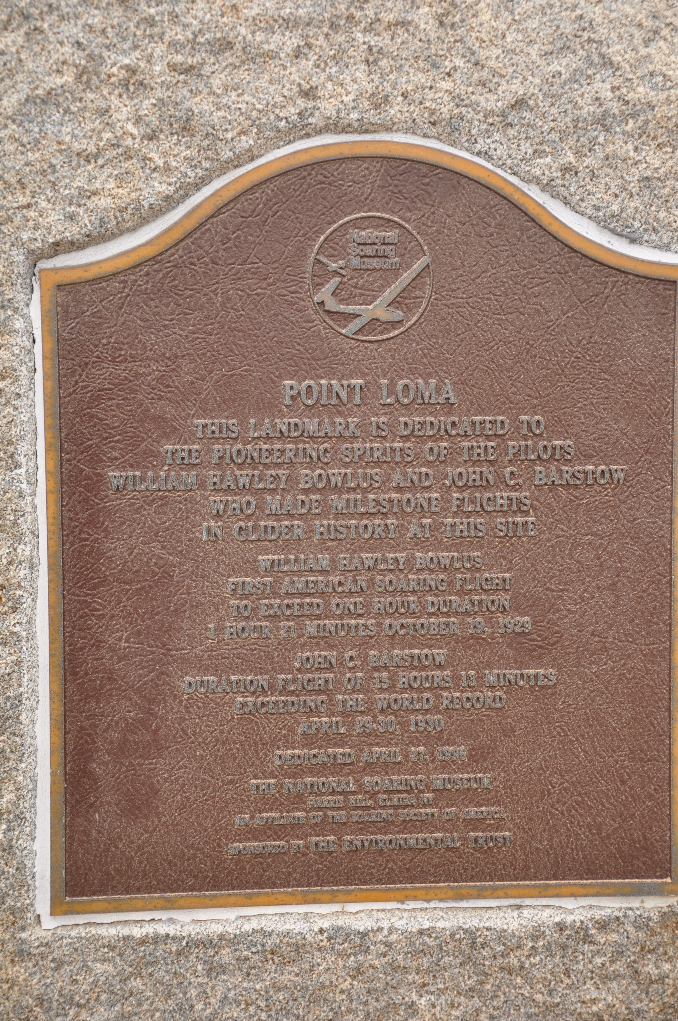 Point Loma Marker