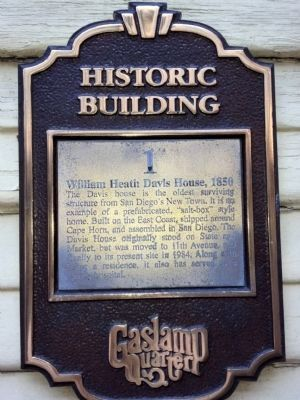 William Heath Davis House, 1850 Marker image. Click for full size.