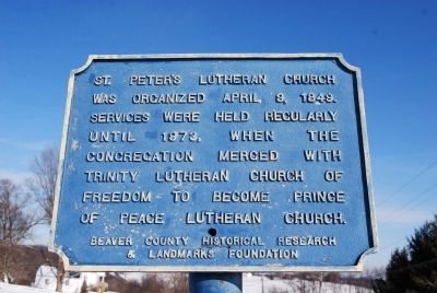 St. Peter's Lutheran Church Marker image. Click for full size.