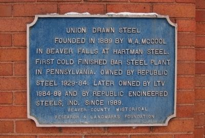 Union Drawn Steel Marker image. Click for full size.