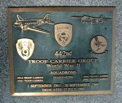 442nd Troop Carrier Group Marker image. Click for full size.
