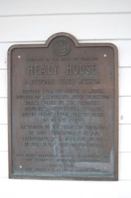 Healy House Marker image. Click for full size.
