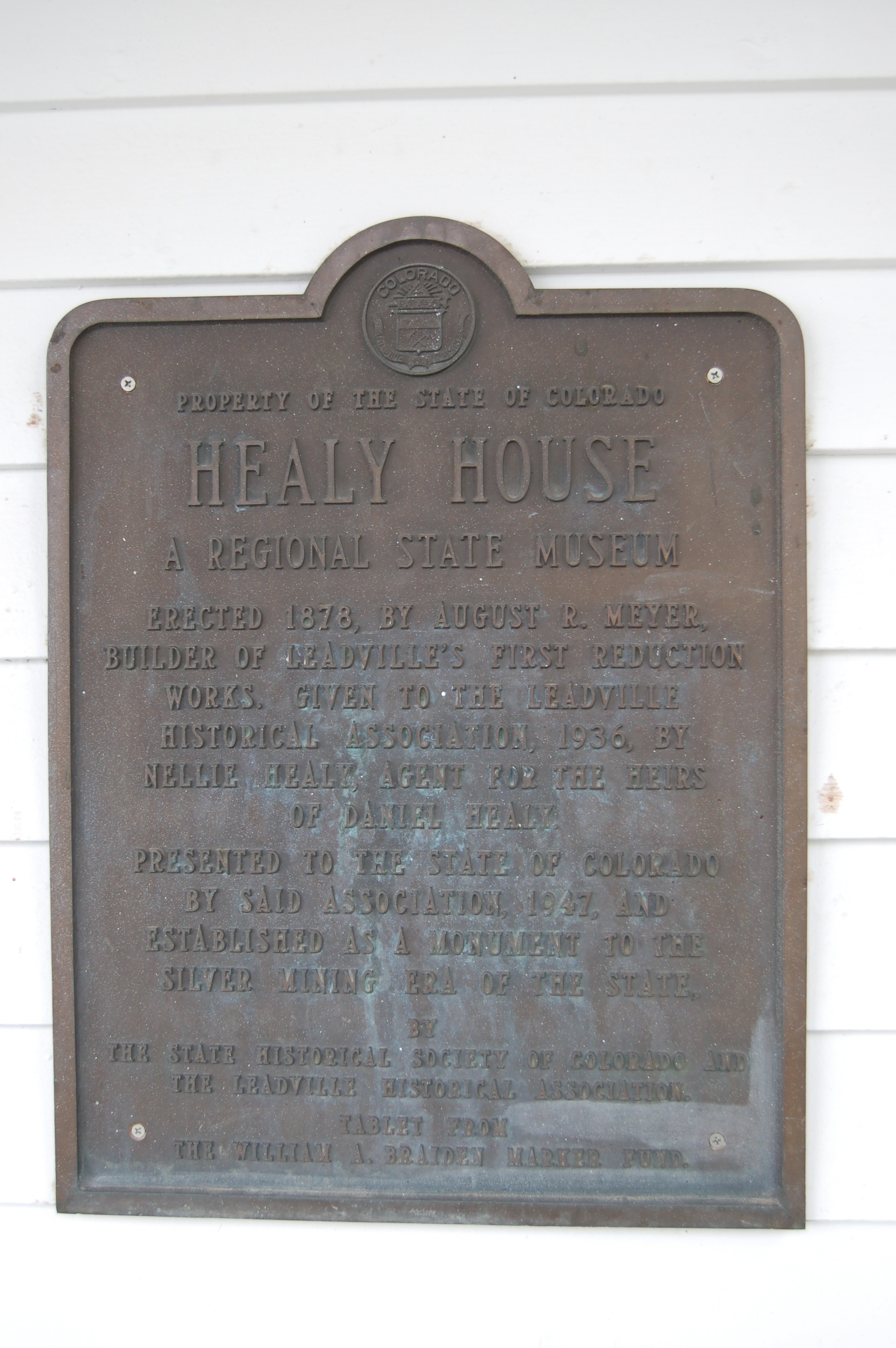 Healy House Marker