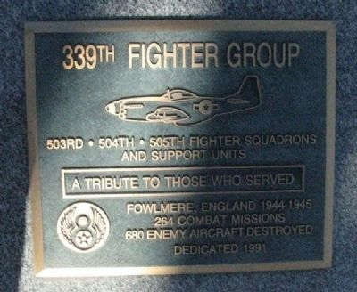 339th Fighter Group Marker image. Click for full size.