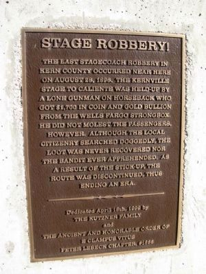Stage Robbery! Marker image. Click for full size.
