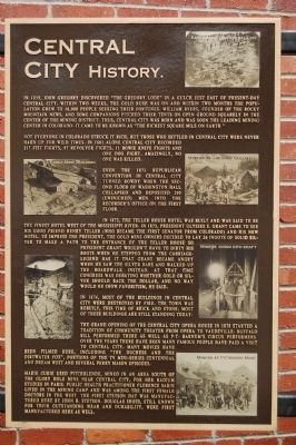 Central City Marker -Panel 2 image. Click for full size.