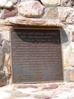 Walker Basin Marker image. Click for full size.