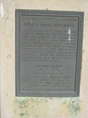 Buena Vista Refinery Marker image. Click for full size.