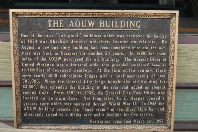 The AOUW Building Marker image. Click for full size.