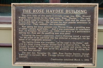 The Rose Haydee Building Marker image. Click for full size.