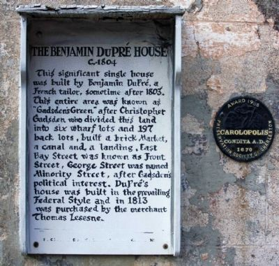 The Benjamin DuPré House Marker image. Click for full size.