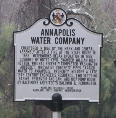Annapolis Water Company Marker image. Click for full size.