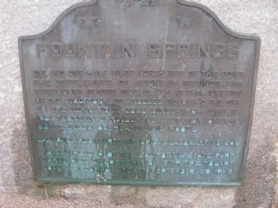 Fountain Springs Marker image. Click for full size.
