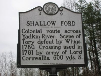 Shallow Ford Marker image. Click for full size.