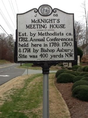McKnight's Meeting House Marker image. Click for full size.