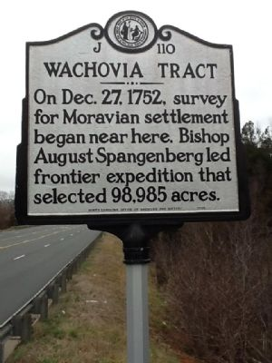 Wachovia Tract Marker image. Click for full size.