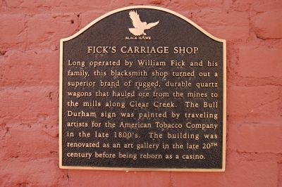 Fick's Carriage Shop Marker image. Click for full size.