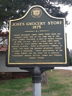 Jones Grocery Store Marker image. Click for full size.