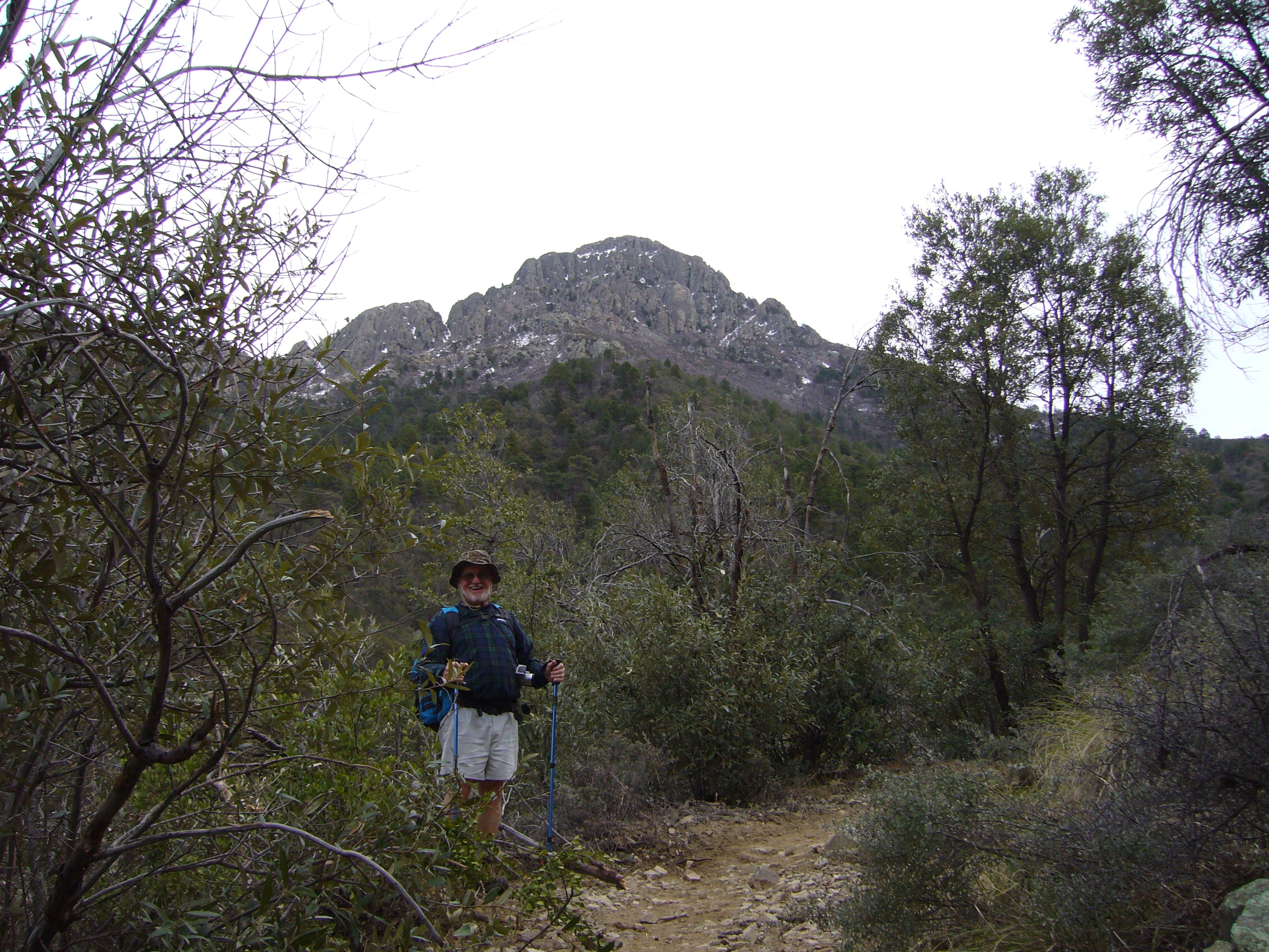 Hiker on Old Baldy Trail.