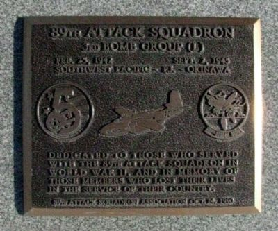 89th Attack Squadron Marker image. Click for full size.