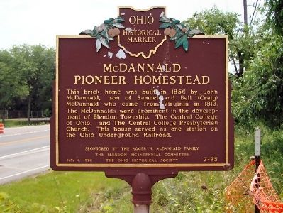 McDannald Pioneer Homestead Marker image. Click for full size.