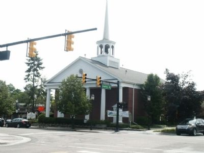 First Presbyterian Church of Northville with marker image. Click for full size.
